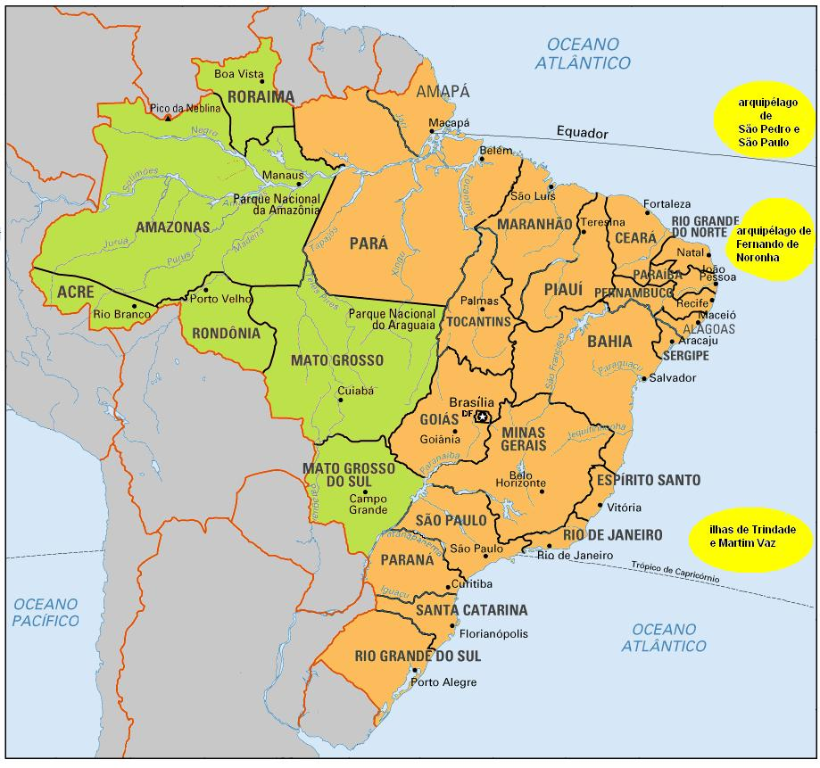 Map Of States Of Brazil The Full Wiki - Brazil states map